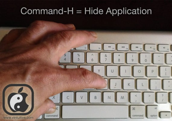 Command-H kyboard shortcut