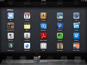 Office folder on ipad